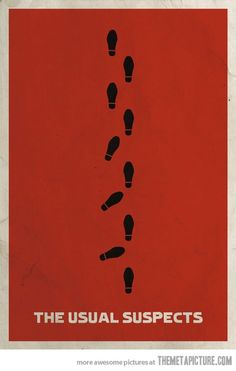 The Usual Suspects - minimal movie poster