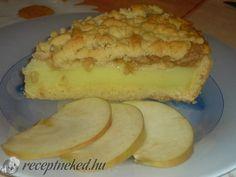 Vaníliakrémes almás pite recept   Receptneked.hu (olcso-receptek.hu) - A legjobb képes receptek egyhelyen Panna Cotta, Cake Recipes, Cheesecake, Muffin, Health Fitness, Pie, Cooking Recipes, Sweets, Cookies