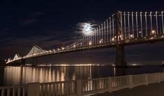 San Francisco bay bridge : light installation by Leo Villareal, just opened in April 2013, will run thru 2015.