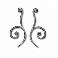 Wrought Iron Scrolls, Made of Flat Bar, with Hot Forged Ends, Suitable for Interior Decorations