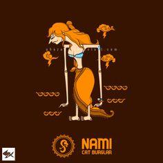 Nami Wayang One Piece - Straw Hat Pirates by Manzur Ghozaali, via Behance