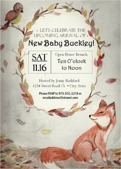 Baby Shower WOODLAND CREATURES | STRICTLY STATIONERY | Pinterest | Shower  Ideas, Baby Shower Invitations And Woodland Creatures