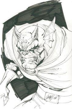 Etrigan - J. Scott Campbell Comic Art