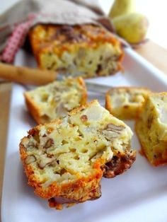 Cake roquefort poires et noix
