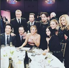 Kaley Cuoco has sparked excitement after sharing a picture of the Friends cast alongside the stars of her sitcom The Big Bang Theory.