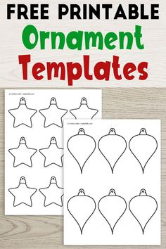 Grab these free printable ornament templates for Christmas crafts and decorating! 14 printable ornament patterns for kid's crafts. Printable Christmas Decorations, Christmas Ornament Template, Christmas Ornament Crafts, Preschool Christmas, Christmas Templates, Free Christmas Printables, Christmas Crafts For Kids, Holiday Decorations, Kids Crafts