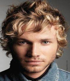 Daniel - blonde curly hair/blue eyes/man