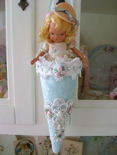 Aqua Velvet Tussie Mussie by sweetnshabbyroses, via Flickr
