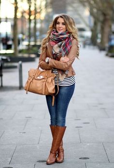 Date outfit herbst, trendy winter outfits, trendy clothes plaid fall outfits Winter Fashion Casual, Fall Winter Outfits, Autumn Winter Fashion, Casual Winter, Winter Wear, Winter Style, Winter Clothes, Plaid Fall Outfits, Winter Scarf Outfit