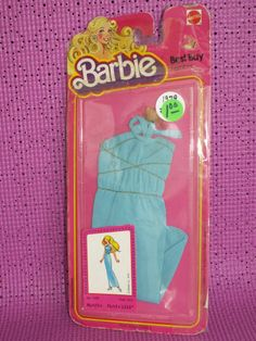BARBIE BEST BUY #1358 BLUE GRECIAN GOWN NEVER REMOVED FROM PACKAGE