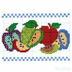 Cross Stitch Charts, Cross Stitch Embroidery, Shawl, Diy And Crafts, Cross Stitch Fairy, Portion Plate, Vegetables, Crewel Embroidery, Embroidery Stitches