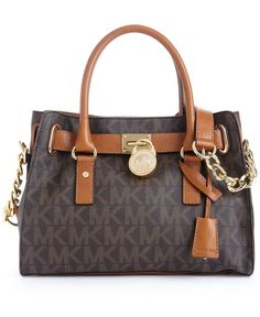 MICHAEL Michael Kors Hamilton Signature Satchel - Handbags & Accessories - Macy's#Michael #Kors #Handbags #outlet 85% save,love and buy !