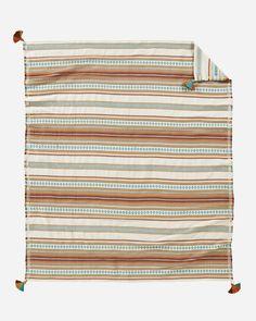 Pendleton Unisex Cotton Jacquard Throw Paloma Stripe Camel One Size