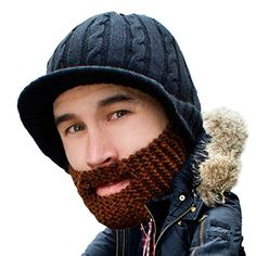 680e0ba1d0a Amazon.com  Beard Head - The Original Stubble Rider Knit Beard Beanie (Black)   Sports   Outdoors