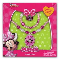 mm1133-NJ - Minnie Mouse jewelry box set (June 2015 availability -- Accepting preorders)