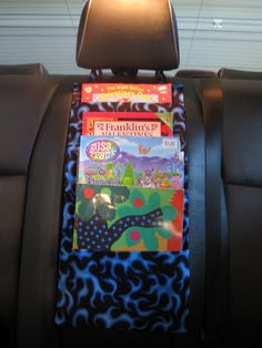 kids car caddybook holder this is great to hold books coloring books