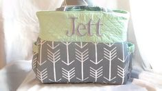 Large Gray Arrow Diaper Bag