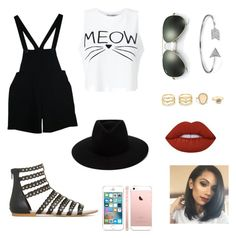 """""""Unique in a good way"""" by ella-rharper on Polyvore featuring Miss Selfridge, American Apparel, rag & bone, Ray-Ban, Bling Jewelry, LULUS and Lime Crime"""