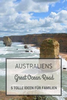 Die besten Attraktionen und Fun Activities entlang der Great Ocean Road, Australien für Familien mit Kindern. Great Barrier Reef, Travel Around The World, Around The Worlds, Van Life, Road Trip, Ocean, Camping, Beach, Places