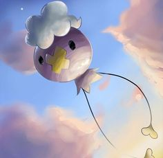 """Drifloon - These Pokémon are called the """"Signpost for Wandering Spirits."""" Children holding them sometimes vanish."""