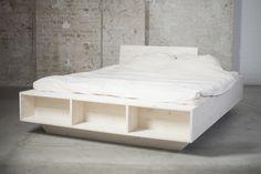 Hochwertig Das Weiße Design Biobett Aus Massivholz Ist ökologisch Gefärbt Und Sehr  Stabil. Es Bietet