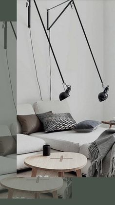 Ever since I stumbled across this interior in Spain, I have developed an obsession with these lamps!Their long arms and flexibility combine the best type of lamps so that you'll never need a traditional lamp again. Traditional Lamps, Swing Arm Wall Lamps, Room Lights, Modern Minimalist, Pendant Lamp, Floor Lamp, Flexibility, Arms, Bulb