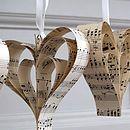 Handmade Vintage Music Heart Decoration