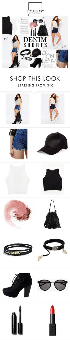 """High Waist Denim Short"" by m3lb ❤ liked on Polyvore featuring Noisy May, Pull&Bear, Topshop, River Island, Free People, NARS Cosmetics, Loeffler Randall, David Yurman, LULUS and Yves Saint Laurent"