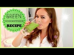 ▶ Healthy Green Smoothie Recipe! | Tanya Burr - YouTube. Cucumber, Pineapple, Banana, Celery, Ginger