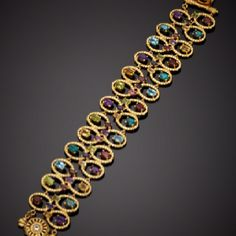 PORSAMO BLEU Gold Multi-Gemstone Wide Bracelet $349.99