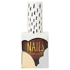 Topshop nail polish. Fun presentation