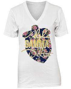 Alpha Gamma Delta #floral #print www.adamblockdesign.com
