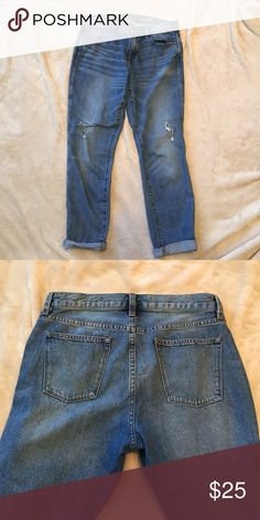 """J Crew Broken In Boyfriend Jeans Like new. Worn a few times. From retail store and not Factory/outlet. Inseam is 28"""" unrolled. J. Crew Jeans Boyfriend"""