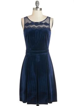Gimme a Plush Dress. No nudging necessary to get you into this deep-blue 3127be0ecf63