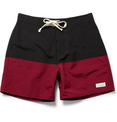 Two tone swim shorts by saturdays surf nyc