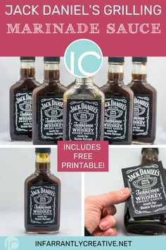 Download my cool printable and give away Jack Daniels Grill Glaze  as a gift!! Made famous from TGI Fridays restaurants and this copycat version can now be easily made at home! #TGIFridays #grillglaze #BBQ #jackdaniels #bbqsauce #sauce #recipe #printable