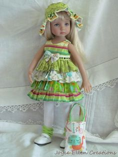 "13"" Effner Little Darling BJD Citrus Kitty Fluff Dress Ooak Handmade BY JEC | eBay"