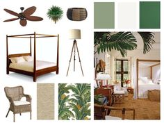 British Colonial Style Moodboard — Dwell South Coast - Colour Consultant + Decorator