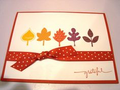 Simple Falling Leaves by amklepko - Cards and Paper Crafts at Splitcoaststampers