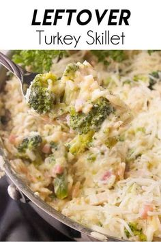 More turkey left from your holiday dinner than you planned for? This Leftover Turkey Skillet is a one pan meal that takes care of that leftover turkey!