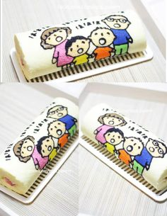 paint roll cake::: no recipe Swiss Roll Cakes, Swiss Cake, Cute Cakes, Yummy Cakes, Japanese Roll Cake, Cakes Without Fondant, Cake Roll Recipes, Cookie Bakery, Cute Baking