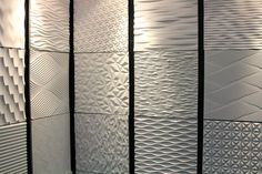 textured tiles so popular as this display shows.