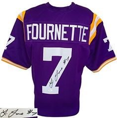 be55a80ccd4 Leonard Fournette Signed Custom Purple College Football Jersey JSA  Authentic Autograph * Want to know more