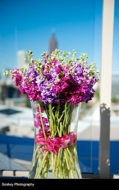 Lovely purple flowers to accent your wedding