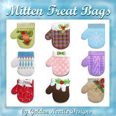Mitten Treat Bags Collection Machine Embroidery Designs - $7.49 : Golden Needle Designs, Great machine embroidery designs
