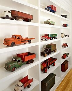 A place for his trucks and cars. #kids #decor