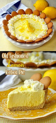 Old Fashioned Lemon Icebox Pie - this recipe always sees an upsurge of activity before American Thanksgiving. It's an ideal plan-ahead pie to make days in advance of the holiday.