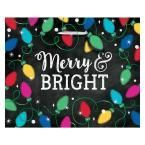 13 in. x 16 in. x 5 in. Christmas Twinkle Lights Hot Stamped Paper Extra Large Horizontal Bag (10-Pack)