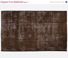 ON SALE 5,7 x 9,3 FT___173 x 285 Cm  Vintage Brown  handmade faded-distressed overdyed rug Free shipping (6040)