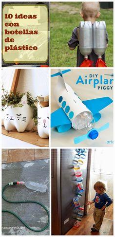 10 ideas para hacer con botellas de plástico ~ Manzanaterapia